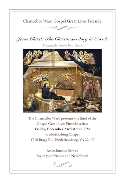 December 23: Jesus Christ: The Christmas Story in Carols